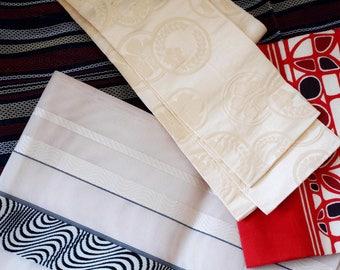 Vintage Japanese Obi belt, Hanhaba Obi, Kimono sash, Yukata obi belt, off-white sakura