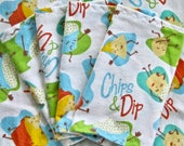 Chips and Dip Decorative Flannel Towel and Napkins Set