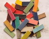 Color Chip Samples Distressed Finish Wood Paint Samples Set 7