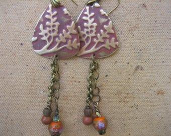 TRIBAL SUNDANCE EARRINGS boho chic rustic earrings