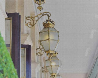 Paris Lanterns on the Rue de Rivoli, Architectural Color Photo 16x9