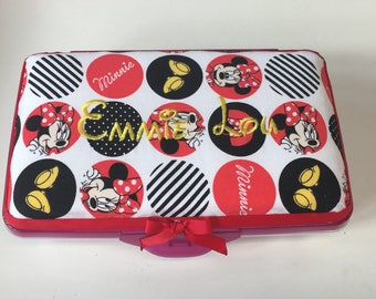 Personalized Kids School Pencil Box Case Minnie Mouse