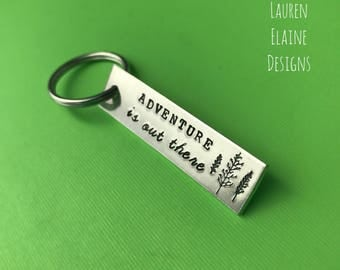 Adventure Is Out There Keychain- Gift for Her, Gift for Him, Traveler Gift, Explore, Adventure