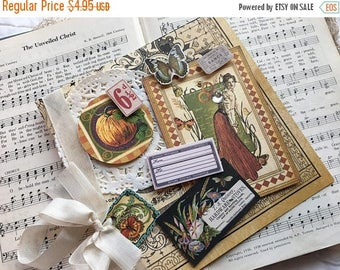 60% OFF Sale Old Curiosity Shoppe Graphic 45 Recipe Greeting Card, Note Card, Altered Art Greeting Card, Vintage style Card, Note, Stationer