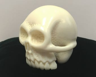 Hand Carved Cue Pool Ball Skull