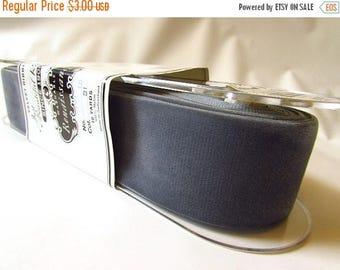 SHIPPING DELAY SALE 10% Vintage Dark Grey velvet ribbon, 1.5 inch wide velvet ribbon, vintage gray velvet, Gunmetal velvet, velvet millinery