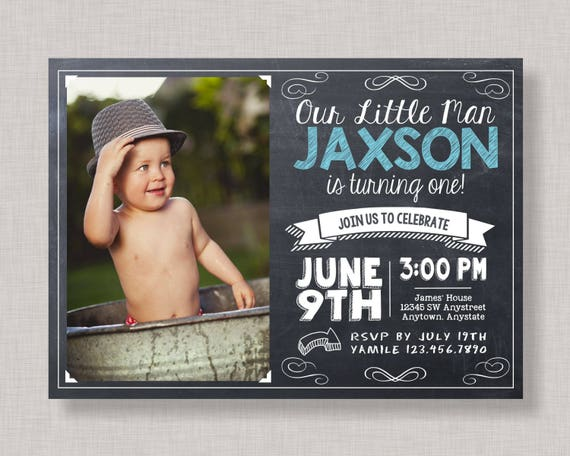 Boy birthday invitationsboy first birthday invitationchalkboard il570xn filmwisefo