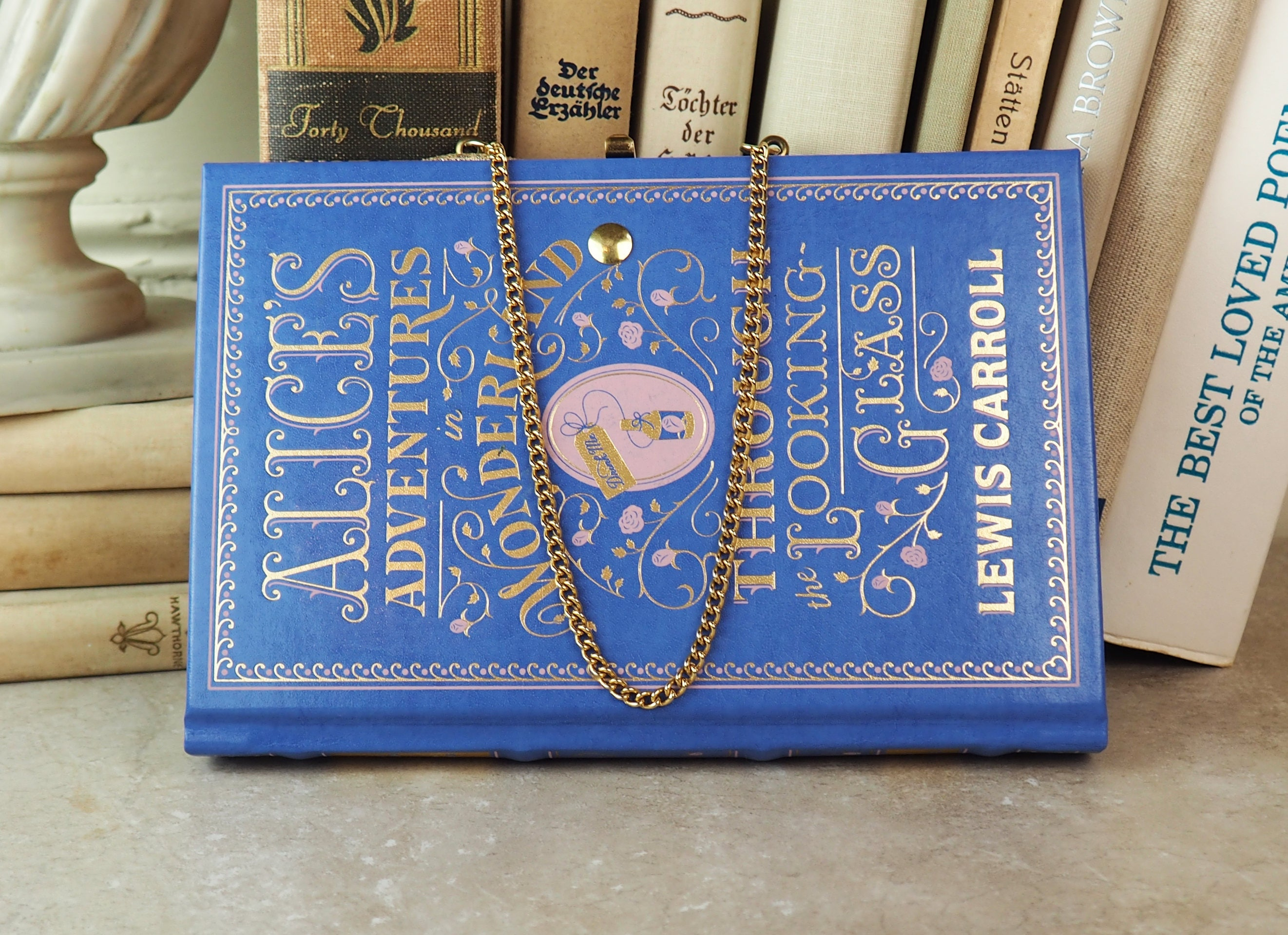 Book Purse- Alice\'s Adventures in Wonderland- Leather Bound Book and ...