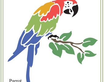 Parrot svg, tropical bird illustration, Tropical Animals SVG file, printable bird, vinyl, greeting cards, invitations, cutting,