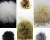 "4"" Pom Pom Balls Faux Fox Fur Fluffy Accessory For Hats Purses Scarves Keychains Cruelty Free 10 Cm"