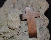 "Wooden Wall Cross; 2.5""x4.5""x1""; Small Wood Cross; Wall Cross Decor; Crooked Cross; Mesquite; Handmade;  Free Ground Shipping cc5-9030118"