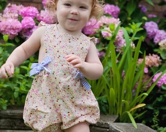 Summer Girl Bubble, Spring Floral Romper | 3-6m-4T | Free Shipping