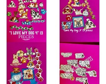 All four I Love My Dog sets HUGE SET 52 decorative planner stickers. Will fit MOST planners
