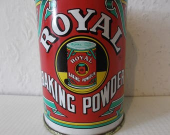 Vintage English Baking Powder Tin Royal Baking Powder Tin 1900s style
