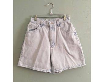 90's Light Wash Denim High Waisted Shorts