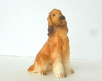 Afghan Hound Figurine Ceramic Dog Breed Collectible Napcoware Japan