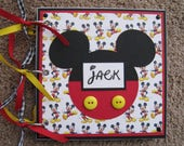 Custom Order for Lindsay - Disney Autograph Book - Mickey Mouse - Extra Mickey Head Icons