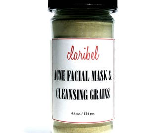 Acne Facial Mask | Acne Cleanser | Soothing, Clarifying & Healing