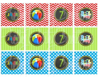 CHALKBOARD POOL PARTY primary toppers - You Print