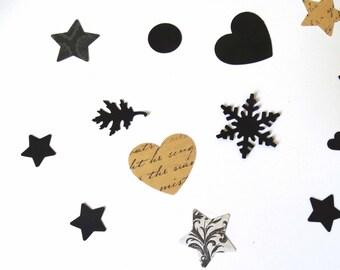 New Years Confetti, formal event decor, party confetti, winter celebration decor, wedding confetti, star confetti, circle confetti