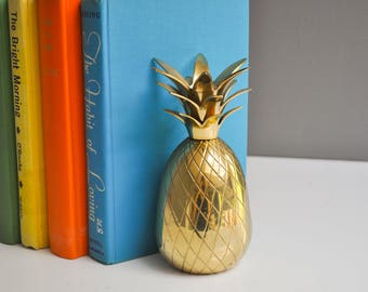 "Vintage 7"" Brass Pineapple Candle Holder"