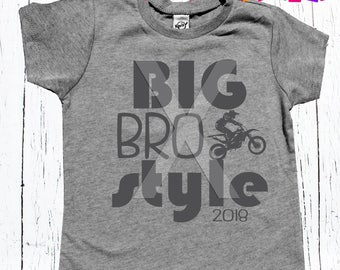 big brother sibling tee shirt pregnancy announcement for big brother to be or silbling matching tee shirt personalized with year
