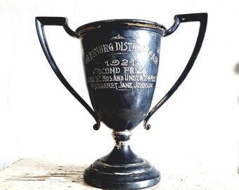 Vintage Silver Trophy // Mantle Display