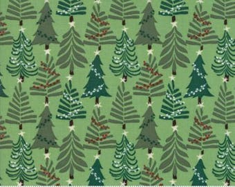 Fabric by the Yard- Charleston-- Merry Merry- Christmas Evergreens--by Kate Spain for Moda
