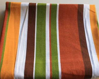 Mulit Color Strips Canvas Cotton Fabric
