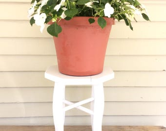 Vintage Wooden Plant Stand / Octagonal Plant Stand / Fern Stand