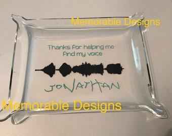 Custom Soundwave gift for SLP, Speech Gift, One of a Kind