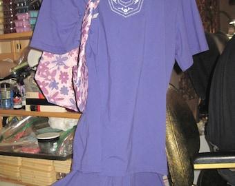 Vintage Woman's CW CLASSICS 3pc Purple 'Sailor/Beach' Outfit sz 1X w/ Coordinating Purse ...JMFCL10
