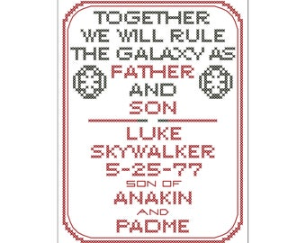 Star Wars Sith Birth Sampler