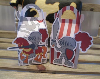 Knights in Armor  Gable Favor Boxes Set of 30 with Free Shipping