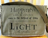 Harry Potter Quote Canvas Messenger Bag Laptop Bag Crossbody Bag
