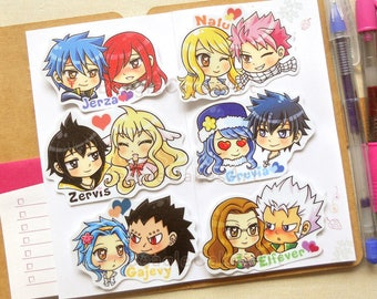 Anime Couple Stickers. FT Stickers. Anime Stickers. Cute Stickers. Kawaii Sticker. Laptop Sticker. Waterproof Sticker. Anime Gift. Decals