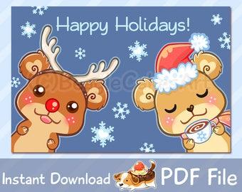 Printable Christmas Card, Family Christmas Card, Christmas Card, Holiday Greeting Card, Christmas Printable, Winter Printable, Holiday Card