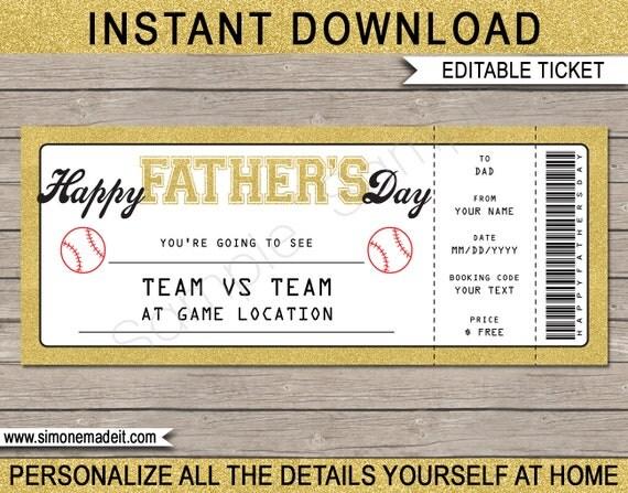 Baseball ticket fathers day gift voucher surprise baseball game il570xn maxwellsz