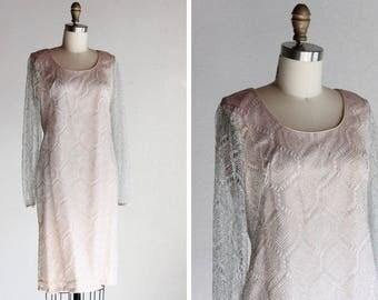Vintage 1960s Metallic Dress