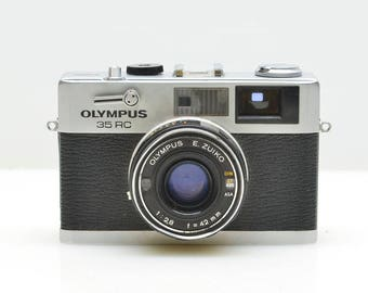 OLYMPUS 35 RC 35mm Rangefinder Camera, Ultra Compact, SUPERB Optics, New Battery, Rated Best Compact 35mm Rangefinder Ever, Made Japan