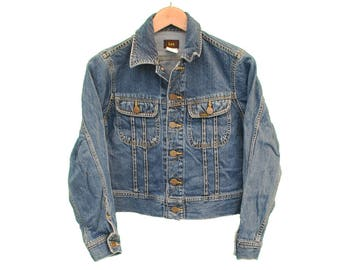 Vintage LEE Denim Jacket Jean Womens - UK 10 S (26342)
