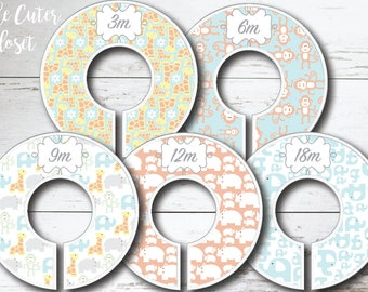 Baby Closet Dividers - Jungle Baby