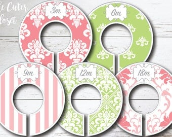 Baby Closet Dividers - Spring Patterns Lime
