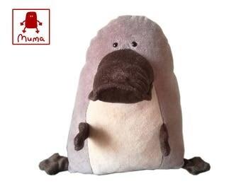 Muma Platypus Plushie, Little Pocket Duck Billed Platypus Stuffie Toy, Funny Australian Pocket Plush