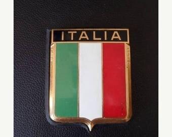 30% OFF SALE Vintage Drago Italia Car Emblem Enamel Metal Auto Accessory Italy Car Badge