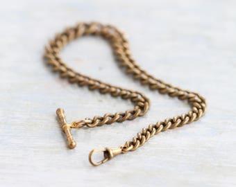 Brass Pocket Watch Chain - Dapper Men Vintage Fashion