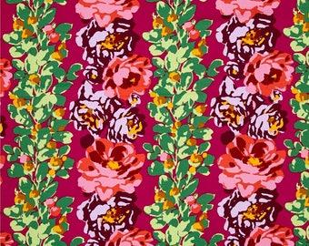 11314 Amy Butler Eternal Sunshine Rose Vine in Wine  color - 1 yard