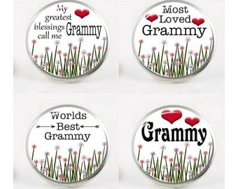 Snap Charms, Grammy, Grandma, Grandmother,  Interchangeable Jewelry, 18mm Charm, Snaps, Snap Button Charm, Sayings, Quotes, Snap In Charm #3
