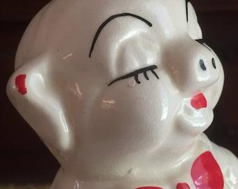 Mid Century Mod Ceramic Piggy Bank