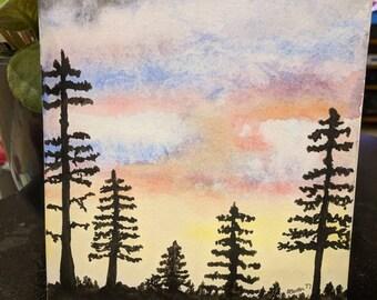 Original Watercolor Painting 9x7